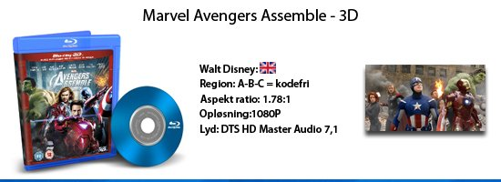 Marvel The Avengers 3D blu-ray