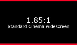 1.85:1 Standard cinema widescreen