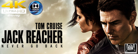 Jack Reacher: Never Go Back UHD 4K blu-ray anmeldelse