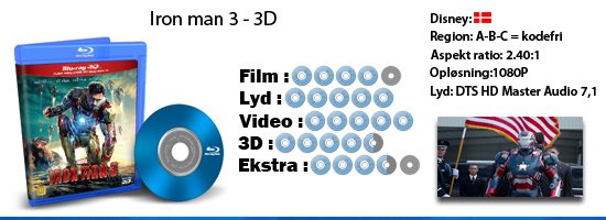 Iron man 3 - 3D blu-ray anmeldelse