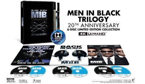 Men in Black Trilogy 20th Anniversary 4K Blu-ray Collection