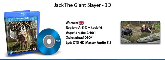 Jack the Giant Slayer 3D blu-ray