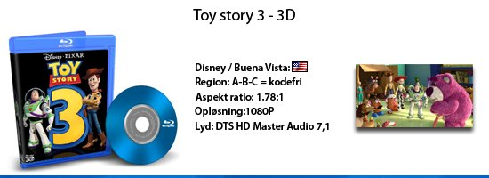 Toy Story 3 - 3D blu-ray