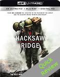 Hacksaw Ridge UHD 4K blu-ray Quick review