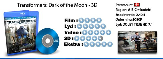 Transformers: Dark of the moon - 3D