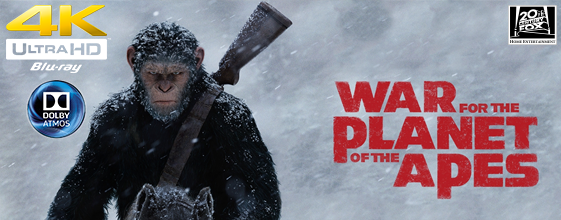 War for the Planet of the Apes UHD 4K blu-ray anmeldelse